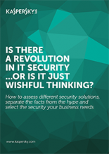 IS THERE A REVOLUTION IN IT SECURITY...OR IS IT JUST WISHFUL THINKING?